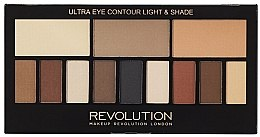 Düfte, Parfümerie und Kosmetik Lidschattenpalette - Makeup Revolution Ultra Eye Contour Light and Shade