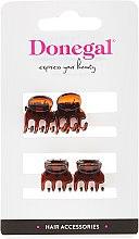 Düfte, Parfümerie und Kosmetik Haarklammern FA-5819, klein, bernsteinbraun, 4 St. - Donegal Hair Clip