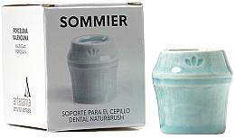 Düfte, Parfümerie und Kosmetik Zahnbürstenhalter aus Porzellan hellblau - NaturBrush Sommier Toothbrush Holder
