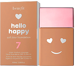 Düfte, Parfümerie und Kosmetik Leichte Foundation - Benefit Hello Happy Soft Blur Foundation SPF 15