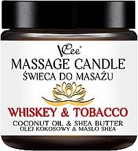 Düfte, Parfümerie und Kosmetik Massagekerze Whiskey & Tobacco - VCee Massage Candle Whiskey & Tobacco Coconut Oil & Shea Butter