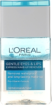Düfte, Parfümerie und Kosmetik Augen & Lippen Make-up Entferner - L'Oreal Paris Gentle Eyes&Lips Express Make-Up Remover Waterproof
