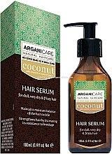 Düfte, Parfümerie und Kosmetik Haarserum mit Kokosnuss- und Arganöl - Arganicare Coconut Hair Serum For Dull, Very Dry & Frizzy Hair