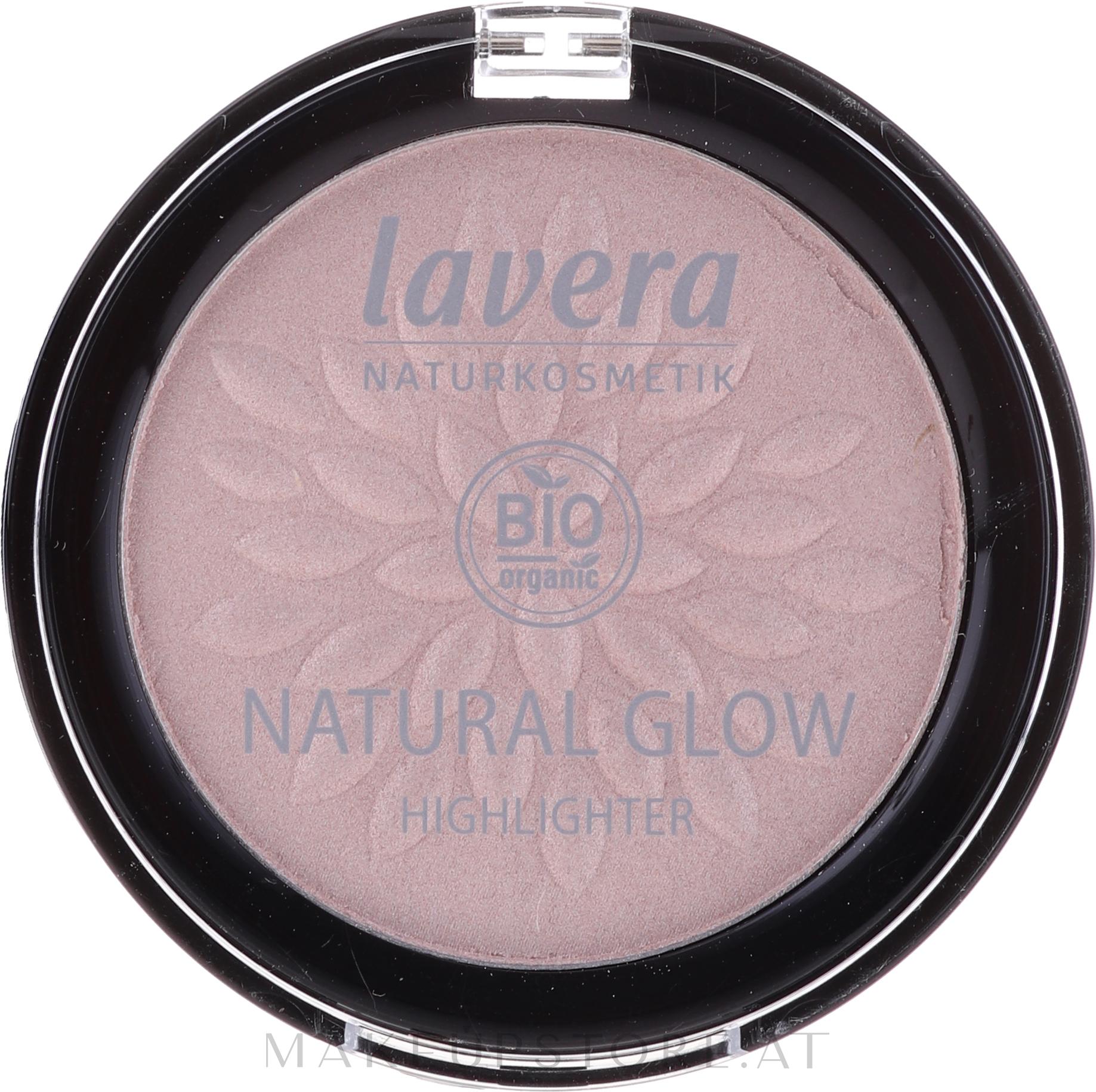 Highlighter für das Gesicht - Lavera Natural Glow Highlighter — Bild Rosy Shine - 01