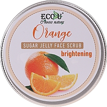 Düfte, Parfümerie und Kosmetik Aufhellendes Gesichtspeeling mit Saccharose und Orange - Eco U Orange Brightening Sugar Jelly Face Scrub