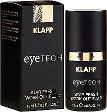 Düfte, Parfümerie und Kosmetik Straffendes Fluid für den Augenbereich gegen dunkle Schatten und Schwellungen - Klapp Eyetech Star Fresh Work Out Fluid
