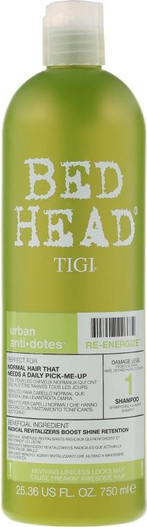 Feuchtigkeitsspendendes Shampoo für normales bis leicht trockenes Haar - Tigi Bed Head Urban Antidotes Re-energize Shampoo — Bild N3
