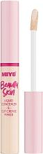 Düfte, Parfümerie und Kosmetik Flüssiger Concealer - Miyo Beauty Skin Liquid Concealer & Cut Crease Maker (01 -Hello Cream)