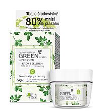Düfte, Parfümerie und Kosmetik Gesichtspflegeset Floslek - Green For Skin (Gesichts-, Hals- und Dekolletécreme für den Tag 50ml + Kosmetikglas)