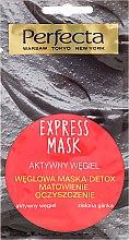 Düfte, Parfümerie und Kosmetik Gesichtsmaske mit Aktivkohle und grünem Ton - Perfecta Express Mask