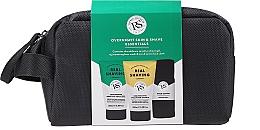 Düfte, Parfümerie und Kosmetik Gesichtspflegeset - The Real Shaving Co. Overnight Skin Shave Essentials Gift Set (Rasiergel für empfindliche Haut 100ml + Verjüngendes Gesichtspeeling-Gel 100ml + Kosmetiktasche + Gesichtstücher)