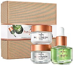 Düfte, Parfümerie und Kosmetik Gesichtspflegeset - Avon Distillery (Tagescreme 30ml + Nachtcreme 30ml + Gesichtsöl 30ml)