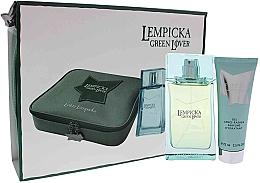 Düfte, Parfümerie und Kosmetik Lolita Lempicka Green Lover - Duftset (Eau de Toilette 100ml + After Shave Gel 75ml + Kosmetiktasche)