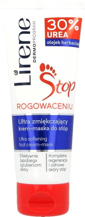 Regenerierende Creme-Maske für die Füße mit 30% Hornstoff - Lirene Stop Callusness Foot Cream-Mask — Bild N1