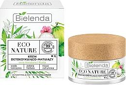 Düfte, Parfümerie und Kosmetik Entgiftende und mattierende Gesichtscreme mit Kokoswasser, grünem Tee und Zitronengras - Bielenda Eco Nature Coconut Water Green Tea & Lemongrass Face Cream