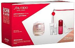 Düfte, Parfümerie und Kosmetik Gesichtspflegeset - Shiseido Benefiance (Gesichtscreme 50ml + Gesichtsschaum 5ml + Gesichtslotion 7ml + Gesichtskonzentrat 10ml + Augencreme 2ml + Kosmetiktasche)