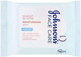 Düfte, Parfümerie und Kosmetik Feuchtigkeitsspendende Feuchttücher zum Abschminken für trockene Haut - Johnson's Face Care Wipes Moisturising Dry Skin