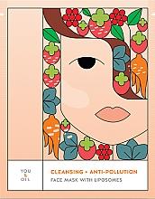 Düfte, Parfümerie und Kosmetik Reinigende Tuchmaske für das Gesicht mit Liposomen - You & Oil Cleansing & Anti-Pollution Face Mask With Liposomes