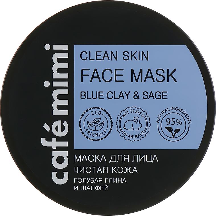 Reinigende Gesichtsmaske mit blauer Tonerde und Salbei - Cafe Mimi Clean Skin Face Mask
