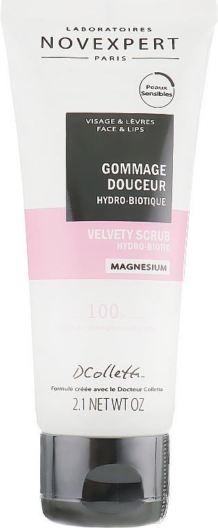 Feuchtigkeitsspendendes und beruhigendes Gesichtspeeling mit Magnesium - Novexpert Magnesium Velvety Scrub Hydro-Biotic