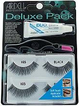 Düfte, Parfümerie und Kosmetik Set Künstliche Wimpern - Ardell Deluxe Twin Pack Lashes #105 With Applicator