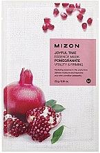 Düfte, Parfümerie und Kosmetik Straffende und vitalisierende Tuchmaske für das Gesicht mit Granatapfelextrakt - Mizon Joyful Time Essence Mask Pomegranate