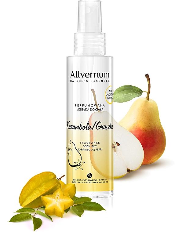 Parfümiertes Körperspray mit Sternfrucht und Birne - Allvernum Nature's Essences Body Mist