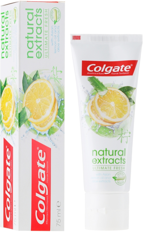 Zahnpasta Natural Extracts Ultimate Fresh - Colgate Natural Extracts Ultimate Fresh Lemon