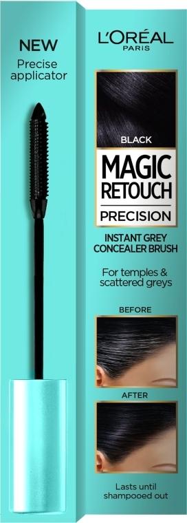 Concealer für graues Haar - L'Oreal Magic Retouch Precision Instant Grey Concealer Brush