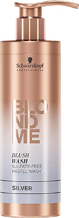 Sulfatfreies Shampoo für blonde Farbkorrektur mit Pastelleffekten in silber - Schwarzkopf Professional Blond Me Blush Wash Apricot