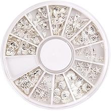 Düfte, Parfümerie und Kosmetik Nageldekoration-Set silbern - Peggy Sage Carousel For Nail Decorations Summer Silver