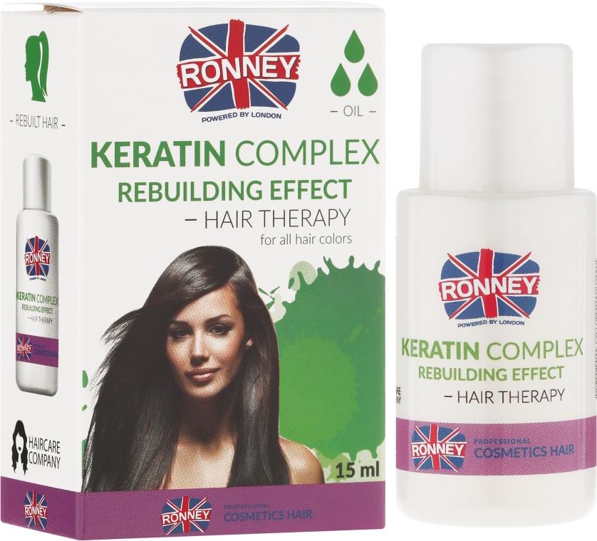 Regenerierendes Keratin Öl für Haar - Ronney Keratin Complex Rebuilding Effect Hair Therapy — Bild N1
