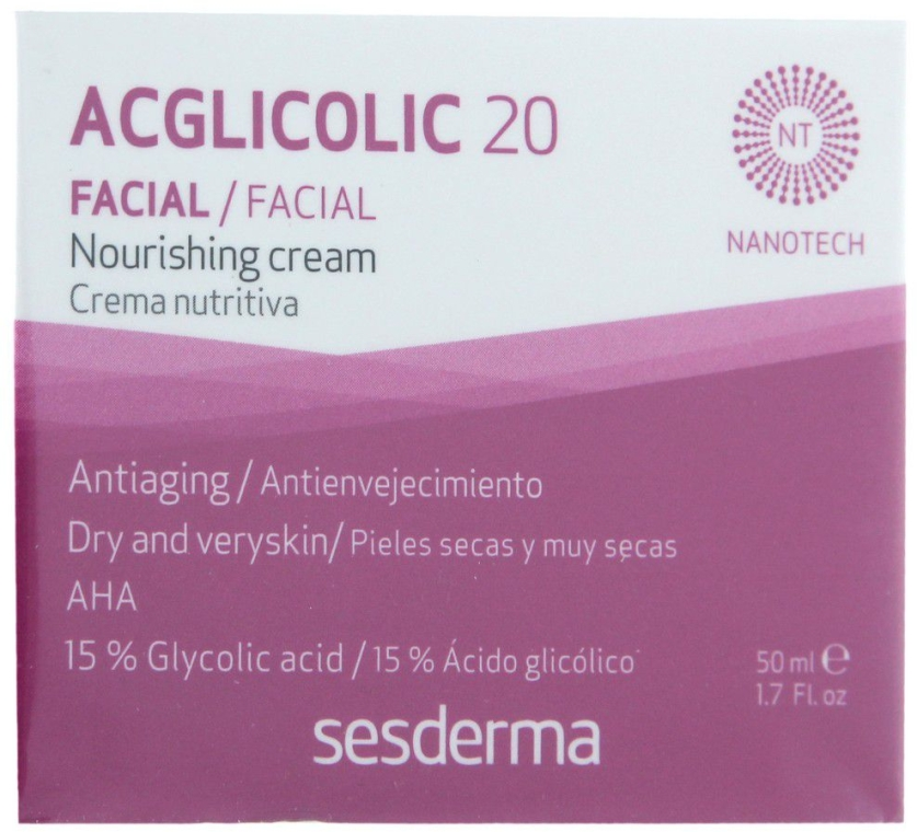 Nährende Anti-Aging Nachtcreme mit Glykolsäure - SesDerma Laboratories Acglicolic 20 Nourishing Cream — Bild N1