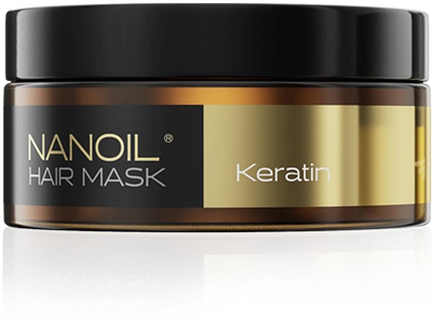 Regenerierende Haarmaske mit Keratin für schwaches und strapaziertes Haar - Nanoil Keratin Hair Mask