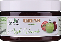 Haarmakse mit Apfelessig für trockenes Haar - ECO U Apple Vinegar Hair Mask For Dry Hair — Bild N2