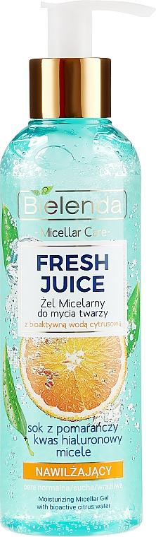 Mizellen-Gesichtswaschgel mit Orange - Bielenda Fresh Juice Micellar Gel Orange