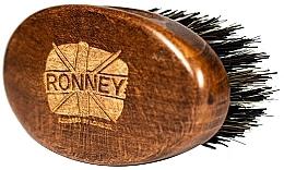 Düfte, Parfümerie und Kosmetik Holzbartbürste mit Naturborsten dunkel - Ronney Professional Barber Small Brush