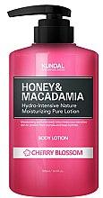 Düfte, Parfümerie und Kosmetik Erfrischende und feuchtigkeitsspendende Körperlotion mit Kirschblüten - Kundal Honey & Macadamia Body Lotion Cherry Blossom