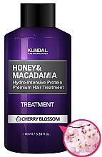 Düfte, Parfümerie und Kosmetik Intensiv feuchtigkeitsspendende Haarspülung mit Kirschblüten - Kundal Honey & Macadamia Treatment Cherry Blossom