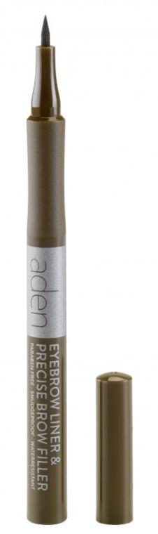 Augenbrauenmarker - Aden Cosmetics Eyebrow Liner & Precise Brow Filler