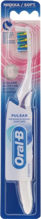 Elektrische Zahnbürste weich Pulsar weiß-lila - Oral-B Pulsar Sensitive&Gum Care