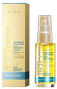Pflegendes Haarserum mit marokkanischem Arganöl ohne Ausspülen - Avon Advance Techniques 360 Nourish Moroccan Argan Oil Leave-In Treatment — Bild N1