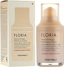 Düfte, Parfümerie und Kosmetik Feuchtigkeitsspendende Gesichtscreme mit Arganöl und Saflorextrakt - Tony Moly Floria Nutra Energy 100 Hours Cream
