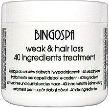 Düfte, Parfümerie und Kosmetik Maske für geschwächtes und coloriertes Haar - BingoSpa Treatment For Hair