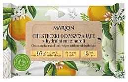 Düfte, Parfümerie und Kosmetik Reinigungstücher für Körper und Gesicht mit Orangenblütenhydrolat 15 St. - Marion