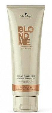 Farbschützendes Shampoo für warme Blondtöne - Schwarzkopf Blondme Color Enhancing Rich Caramel Warm Blond Shampoo — Bild N1