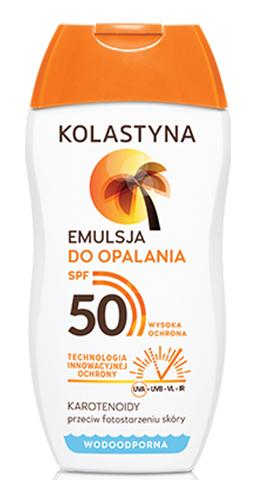 Wasserfeste Sonnenschutzlotion SPF 50 - Kolastyna