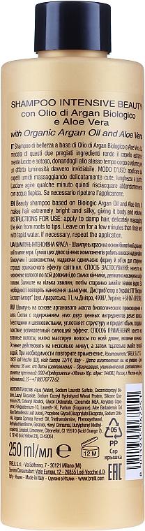 Feuchtigkeitsspendendes Shampoo mit Arganöl und Aloe Vera - Brelil Bio Traitement Cristalli d'Argan Shampoo Intensive Beauty — Bild N4