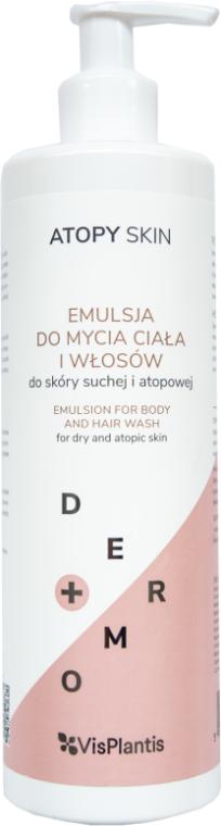 Waschemulsion für Körper und Haar für trockene und atopische Haut - Vis Plantis Atopy Skin Emulsion For Body And Hair Wash