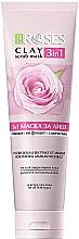 Düfte, Parfümerie und Kosmetik 3in1 Gesichtsmaske mit Rosenwasser und Amaranth - Nature Of Agiva Roses Pink Clay 3 In 1 Scrub Mask